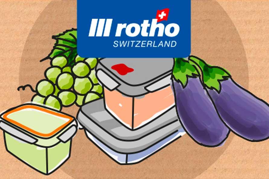 Illustrazione per etichette e packaging Rotho