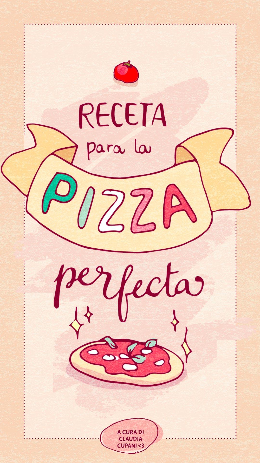 Receta ilustrada pizza