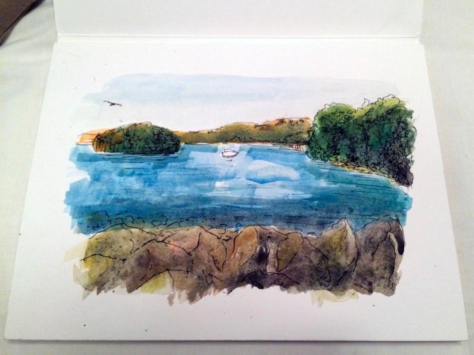 Acquerello lago di Bolsena