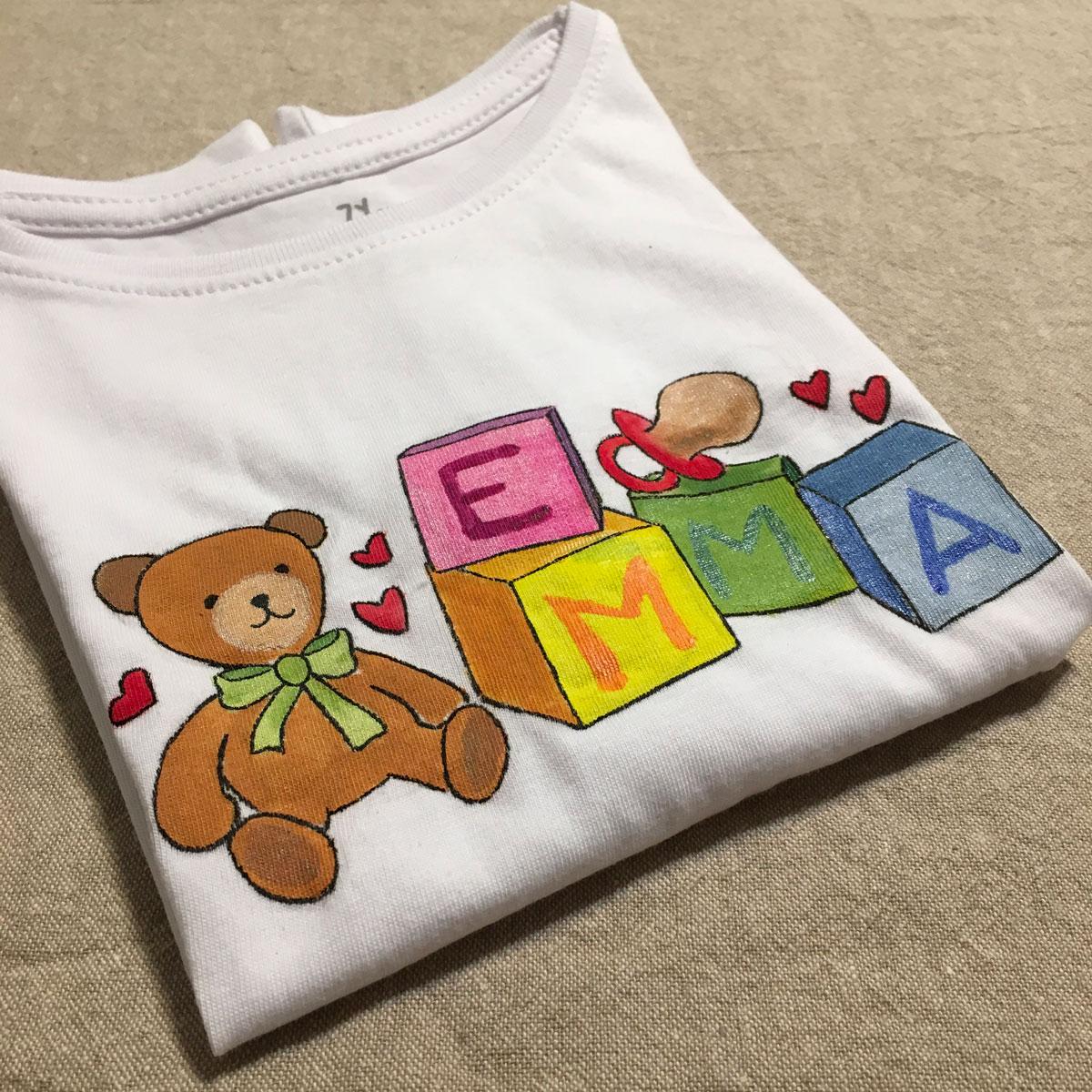 T-shirt dipinta a mano