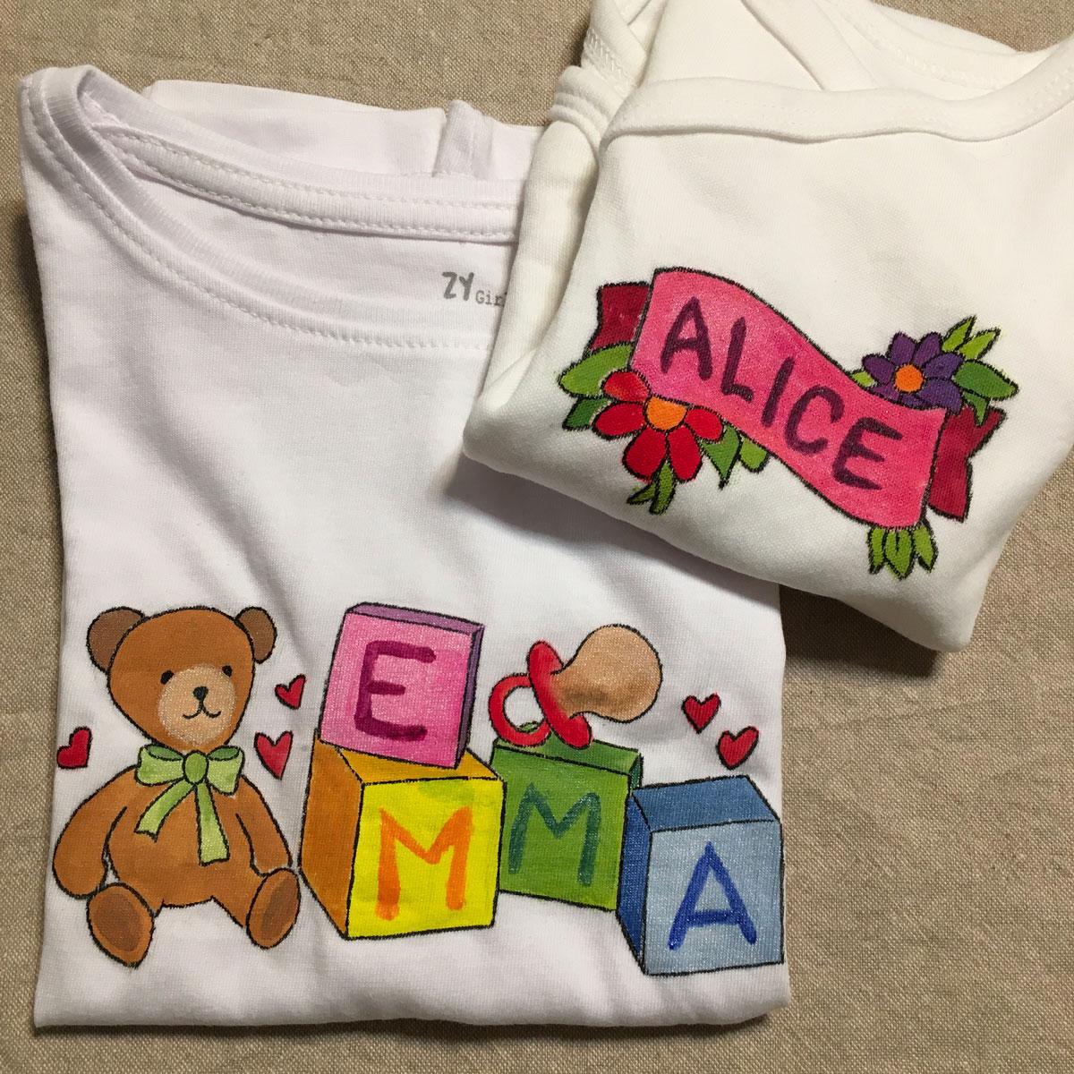 T-shirt e body personalizzati a mano