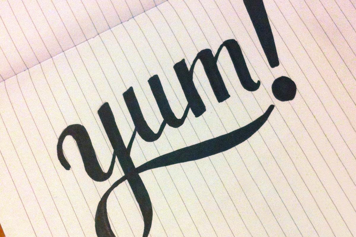 progetto del lettering creativo