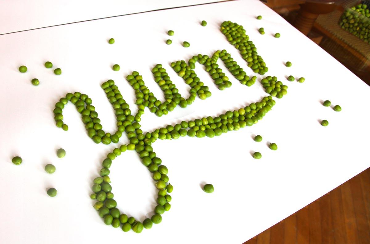 food lettering